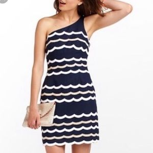 Lilly Pulitzer Navy One Shoulder Dress